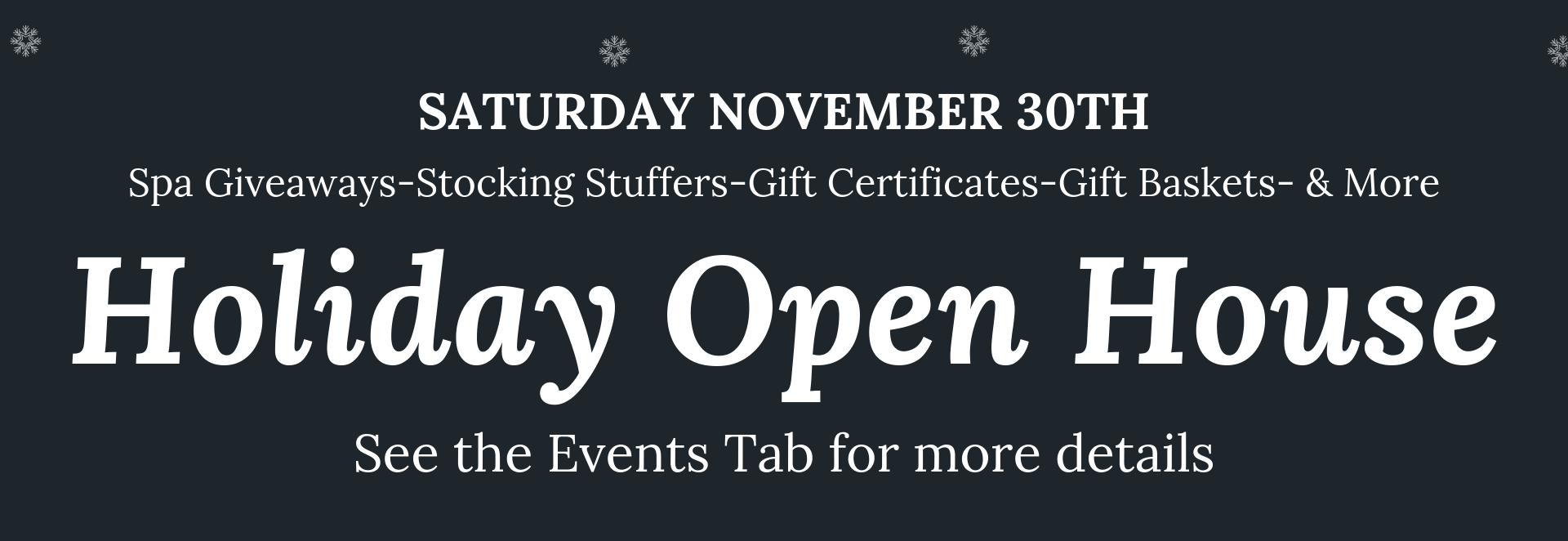 2019 holiday open House- Saturday November 30th